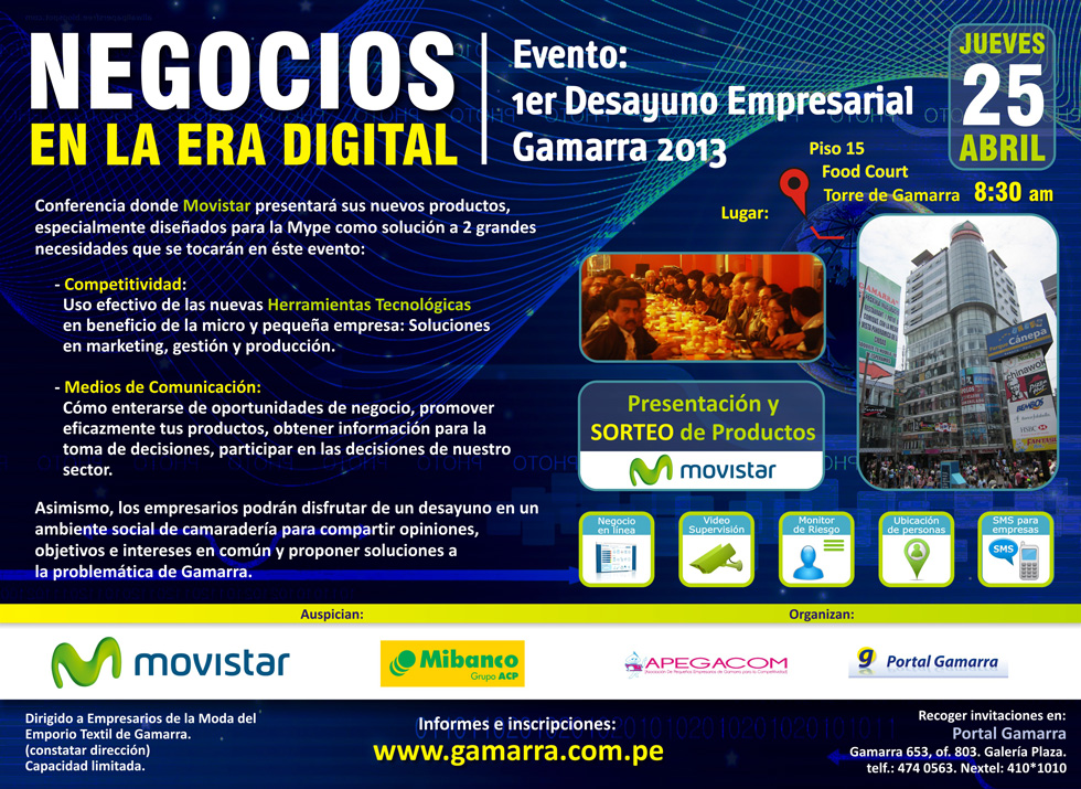Evento Empresarial en Gamarra: &#8220;Negocios en la Era Digital&#8221;