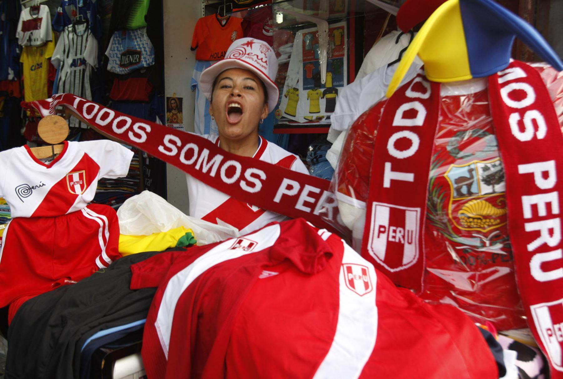 Camisetas de Perú en Gamarra
