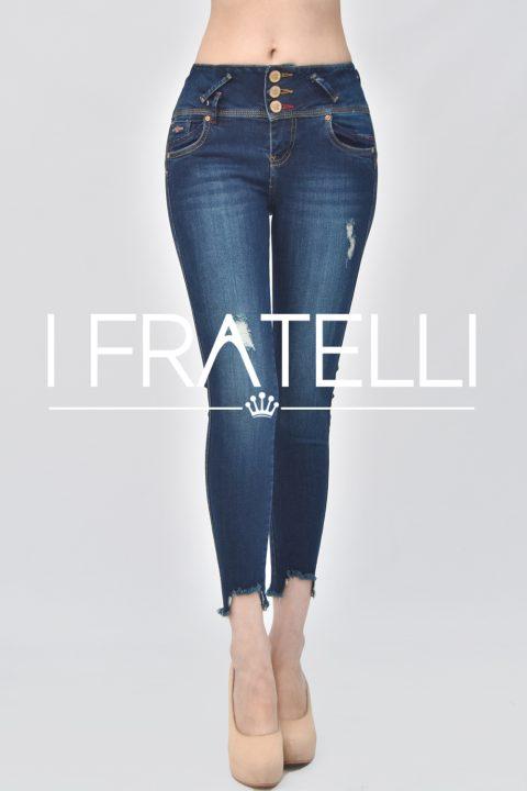 Pantalon Jeans Dama Corte Con Rasgado Ifratelli Gamarra Ropa En Peru