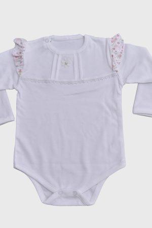 Conjunto para bebés niñas Florcitas Blanco
