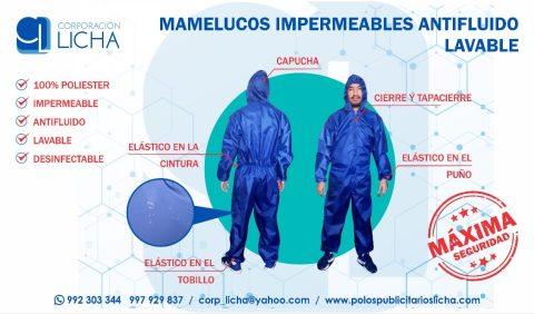 MAMELUCOS IMPERMEABLES ANTIFLUIDO LAVABLE