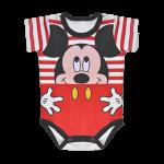 Body Mickey a rayas rojo