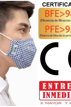 Mascarilla Certificada Esterilizada
