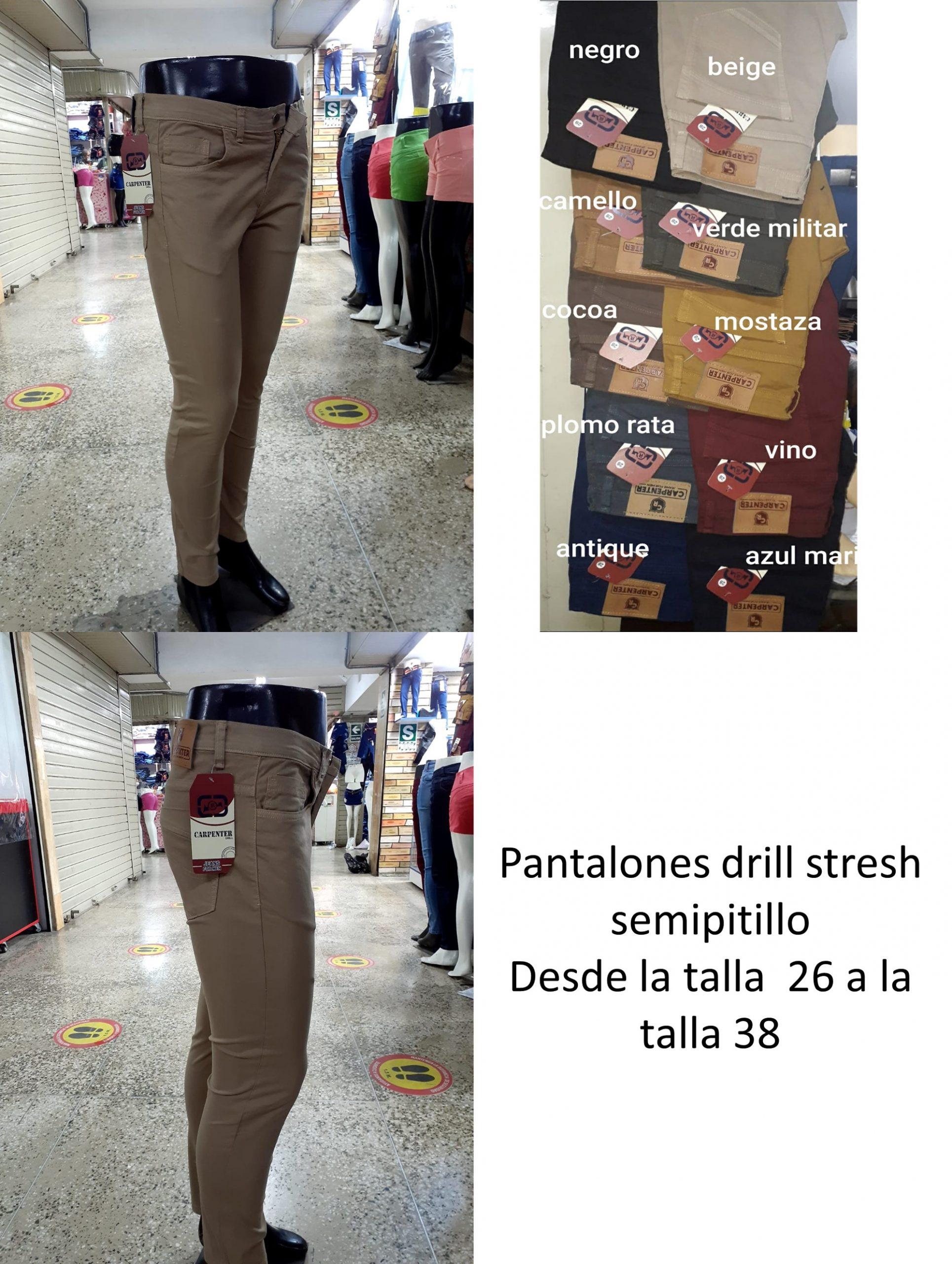Pantalon Drill Strech Semipitillo De Hombre Gamarra Ropa En Peru