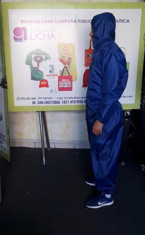 MAMELUCO IMPERMEABLE ANTIFLUIDO LAVABLE Y DESINFECTABLE