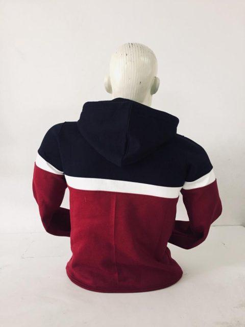 polera con capucha tricolor marca ANONYMOUS