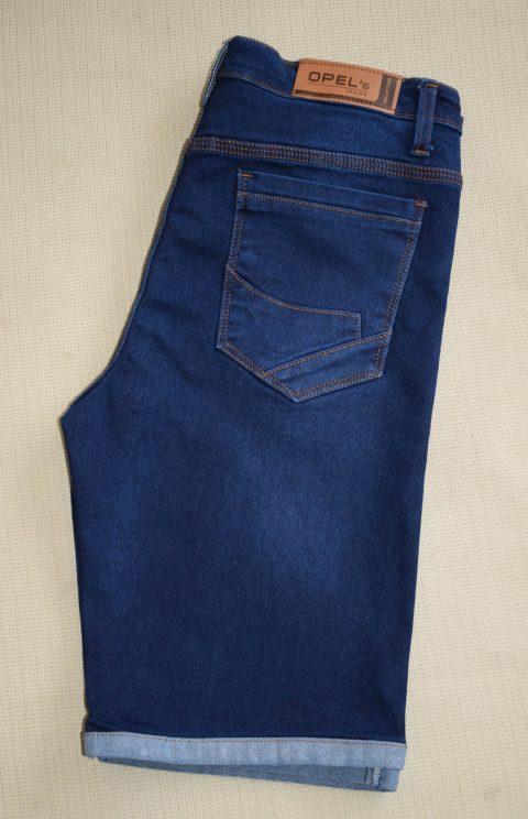 bermuda rasgado azul